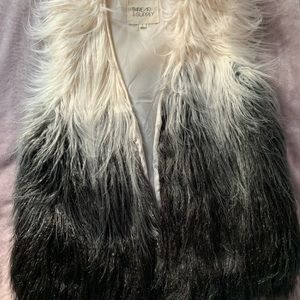 Tri-Colored Fur Vest